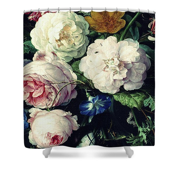 Old Time Botanical Shower Curtain