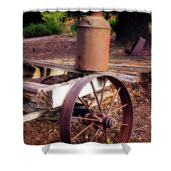 Old Time Wagon Shower Curtain