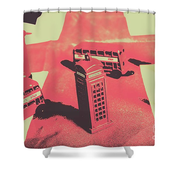 Old Tourism Uk Shower Curtain