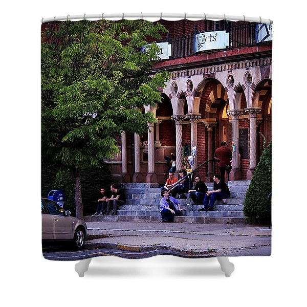 Shower Curtain featuring the photograph Old Town Hall In The Summer by Sven Kielhorn