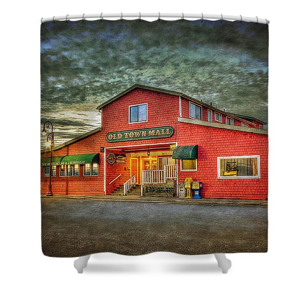 Old Town Mall Bandon Shower Curtain