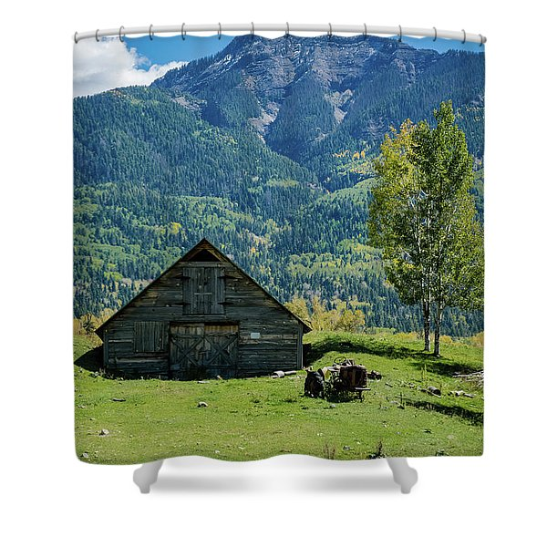 Shower Curtain featuring the photograph Old Tractor by Jason Coward