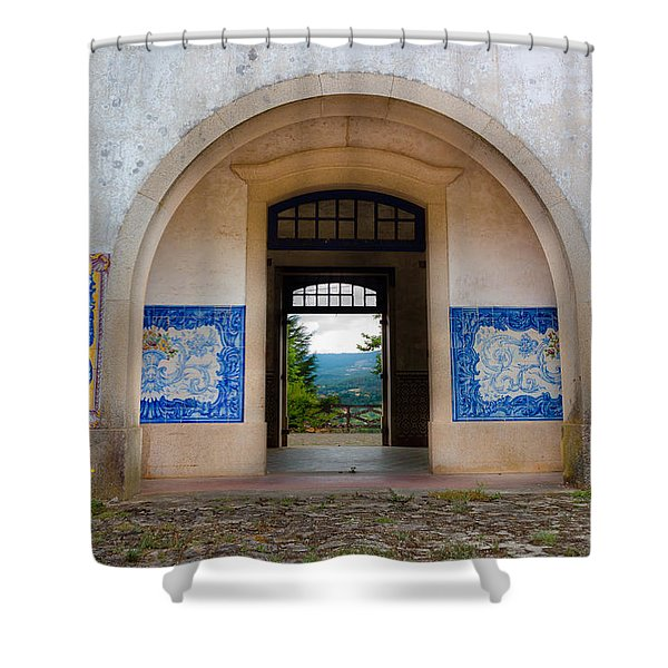 Old Train Station Shower Curtain