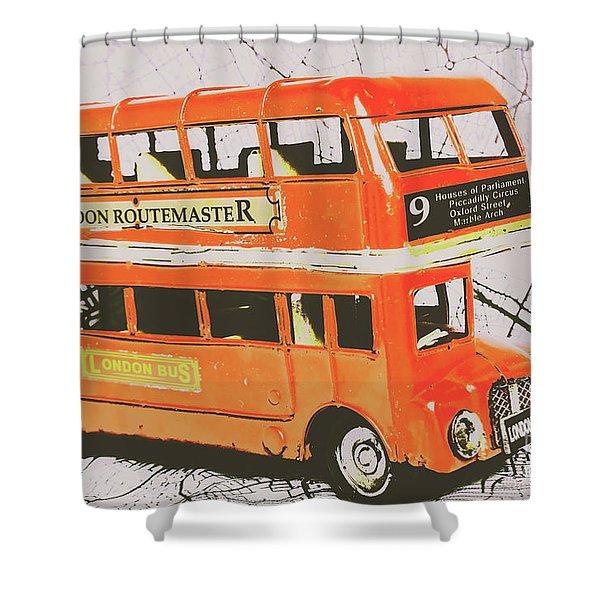 Old United Kingdom Travel Scene Shower Curtain