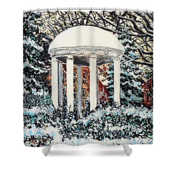 Old Well Winter Shower Curtain