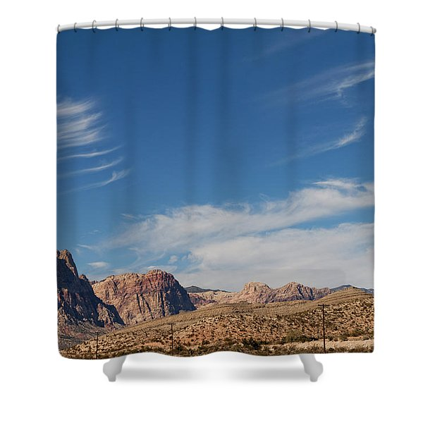 Old West Poles Shower Curtain