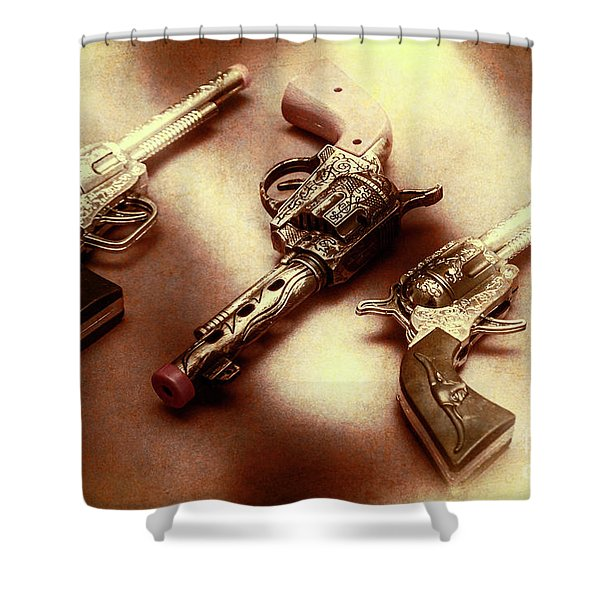 Old Western At Play Shower Curtain