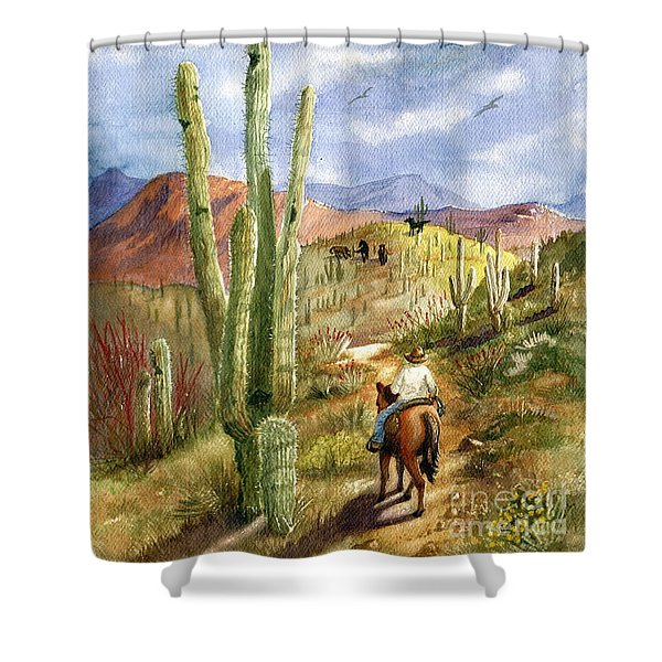 Old Western Skies Shower Curtain