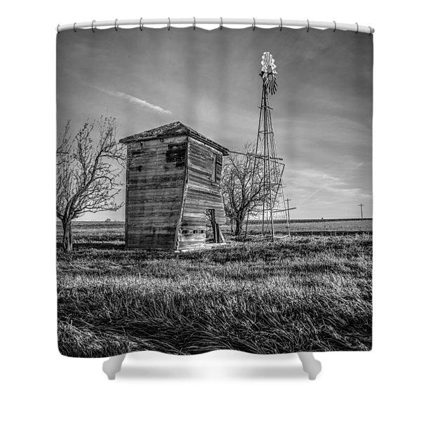 Old Windpump Shower Curtain
