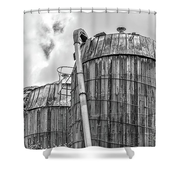 Old Wooden Silos Ely Vermont Shower Curtain