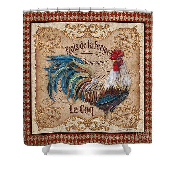 Old World Le Coq-jp3091 Shower Curtain