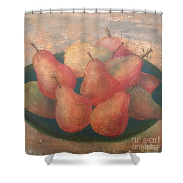 Old World Pears Shower Curtain