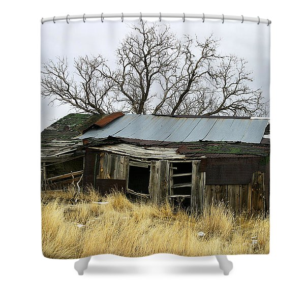 Old Wyoming Farmhouse Shower Curtain
