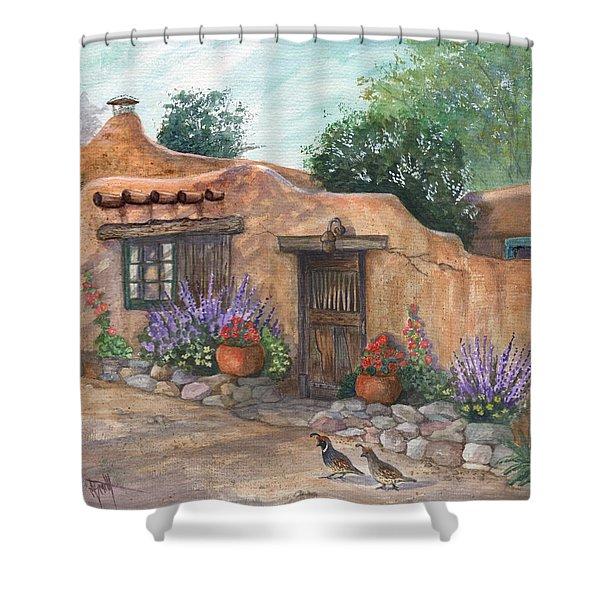 Old Adobe Cottage Shower Curtain