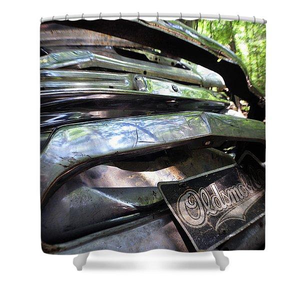 Oldsmobile Bumper Detail Shower Curtain