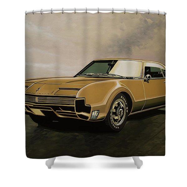 Oldsmobile Toronado 1965 Painting Shower Curtain