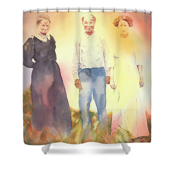 Olive, John And Anna Shower Curtain