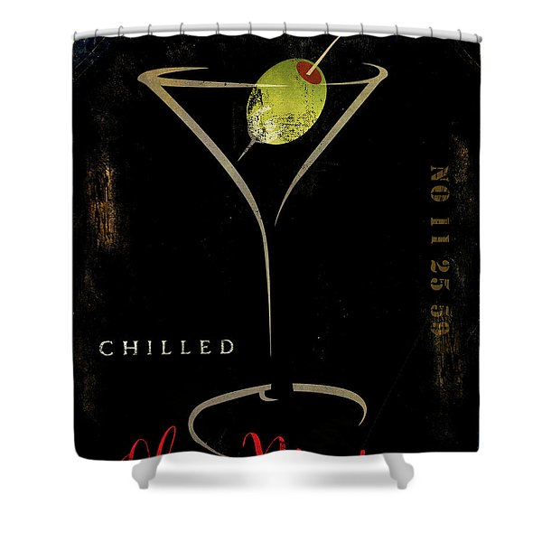 Olive Martini Shower Curtain