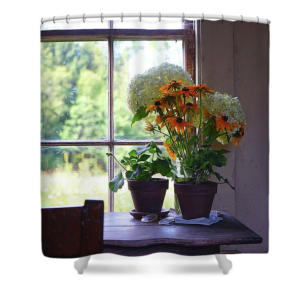 Olson House Flowers On Table Shower Curtain