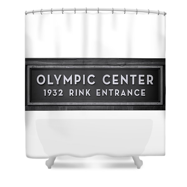 Olympic Center 1932 Rink Entrance - Monochrome Shower Curtain