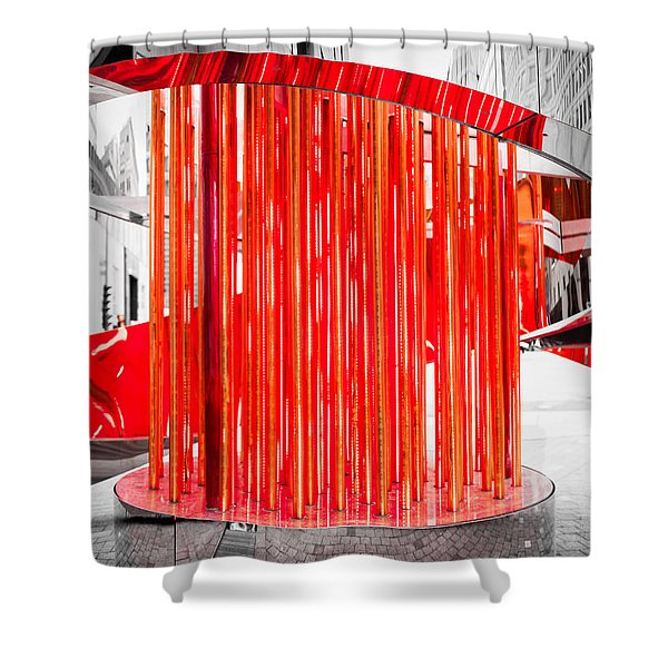 Olympic Neon Flame Shower Curtain