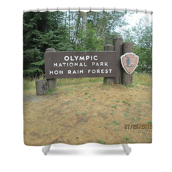 Olympic Park Sign Shower Curtain
