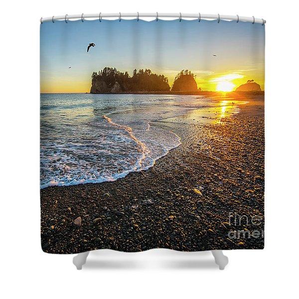 Olympic Peninsula Sunset Shower Curtain