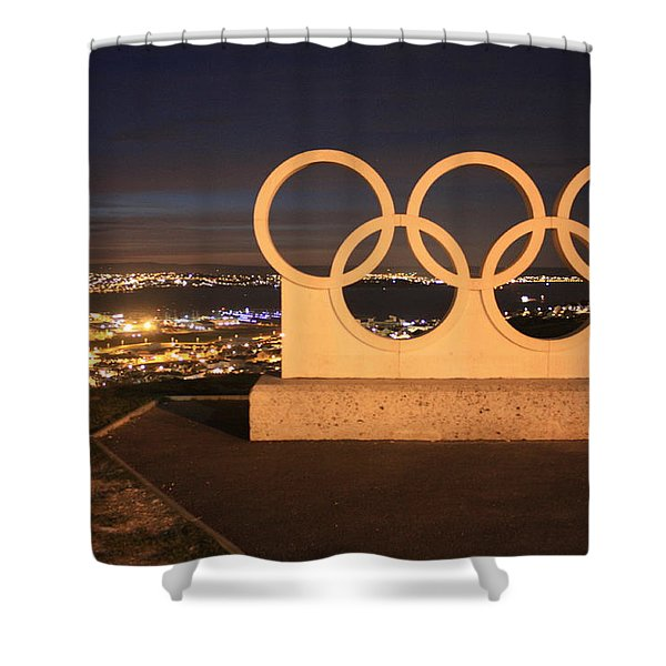 Olympic Rings Portland  Shower Curtain