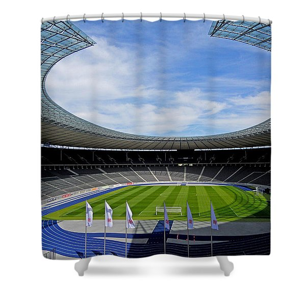 Olympic Stadium Berlin Shower Curtain