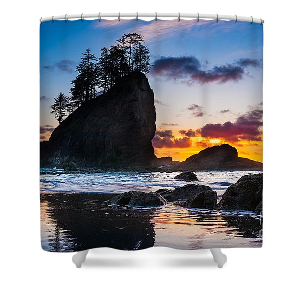 Olympic Sunset Shower Curtain