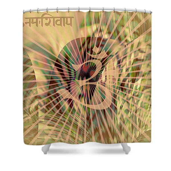 Om Enigma Shower Curtain