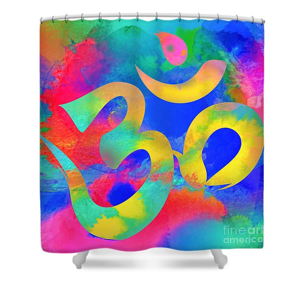 Om Symbol, Rainbow. Ver3 Shower Curtain