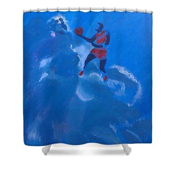 Omaggio A Michael Jordan Shower Curtain