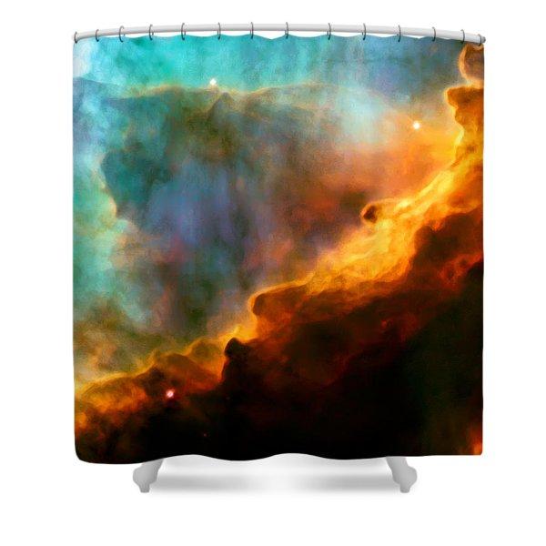 Omega Swan Nebula 3 Shower Curtain