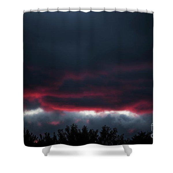 Ominous Autumn Sky Shower Curtain