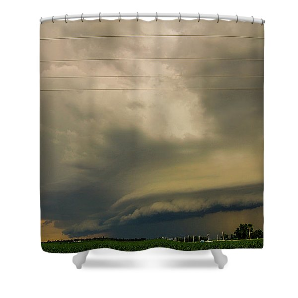 Shower Curtain featuring the photograph Ominous Nebraska Outflow 007 by NebraskaSC