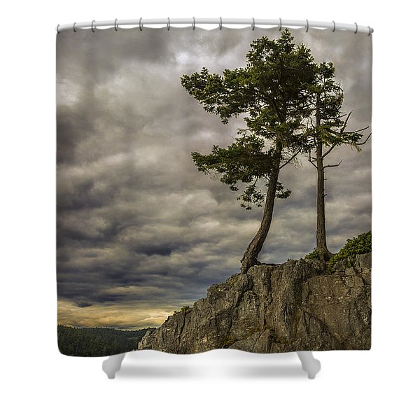 Ominous Weather Shower Curtain