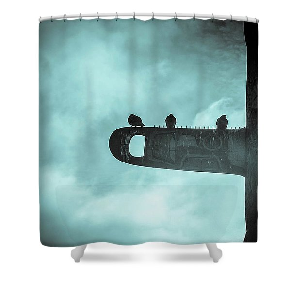 Ominously Seatlle  Shower Curtain