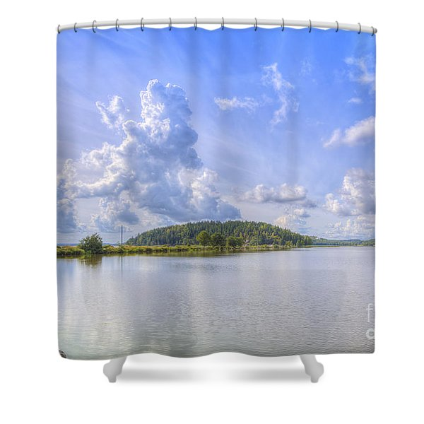 On August Afternoon Shower Curtain