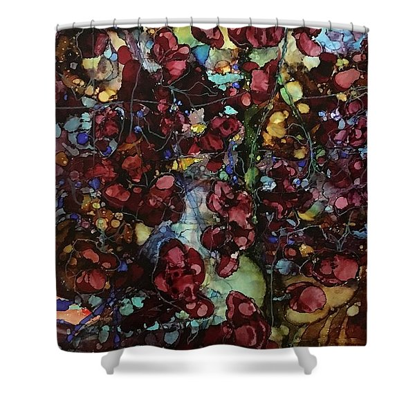On Clustered Vine Shower Curtain