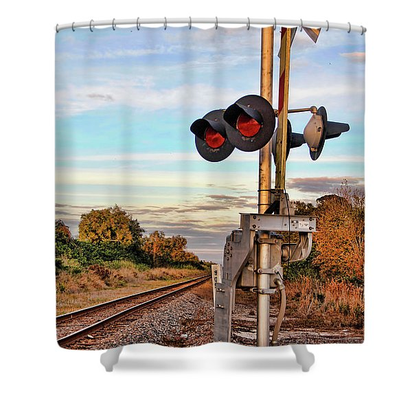 On Down The Line 3 Shower Curtain