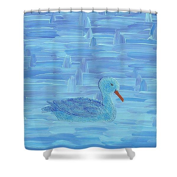 On His Way IIi Shower Curtain