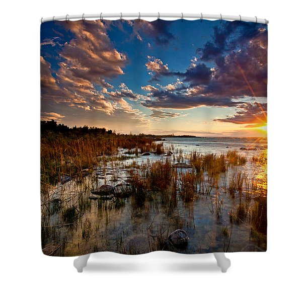 On Lake Michigan's Shore Shower Curtain