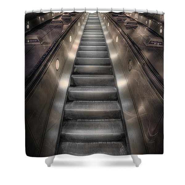 On Metal Monsters We Ride Shower Curtain