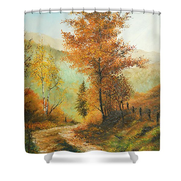 On My Way Home Shower Curtain
