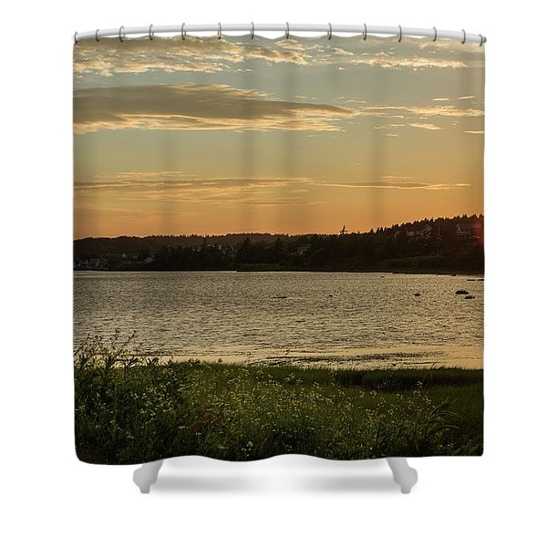 On North Rustico Harbour Shower Curtain