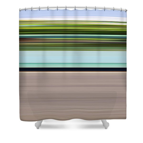 On Road Shower Curtain