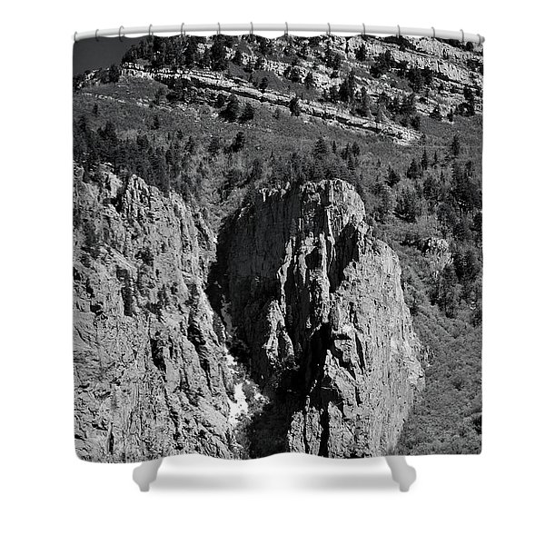 On Sandia Mountain Shower Curtain