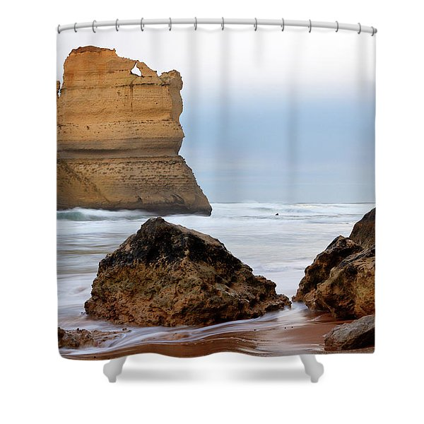 On Southern Shores Shower Curtain