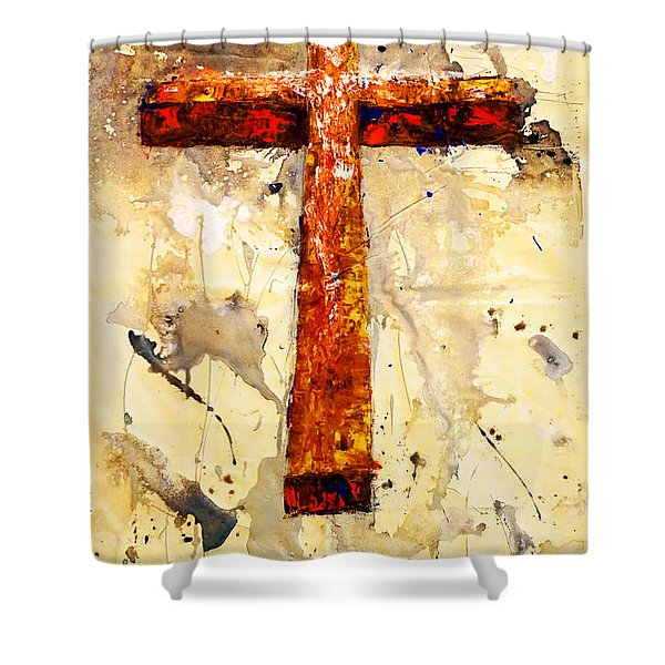 On That Old Rugged Cross Shower Curtain